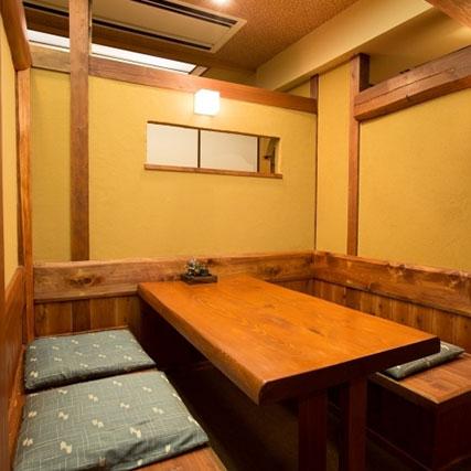 個室や半個室タイプのお席をご用意